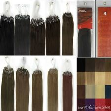 24Inch 100s Women Remy Human Hair Extensions Easy Loops Micro Rings Beads Tipped