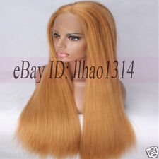 Yaki Straight _ Synthetic Lace Front Wig Light Brown #33 Long Full Wigs Quality