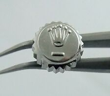 Used Stainless Tudor Prince Oyster Date 6mm Watch Crown 24-600-0 Part ¼ Turn
