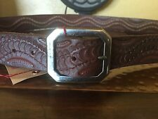 NEW AUTHENTIC True Religion Braided BELT Brown size 34 $128
