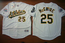 MAJESTIC Oakland A's Athletics MARK McGWIRE 1989 World Series JERSEY WHITE