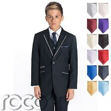 Boys Navy Suit, Navy Prom Suit, Boys Wedding Suit, Self-Stripe Suit