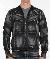 AFFLICTION Mens Sweat Shirt Jacket POWER WELD Tattoo Fight Biker UFC M-XXL $74