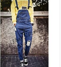 Vintage New Men's Bib Overalls Trousers Antique Ripped Bib Overalls Pants Jeans