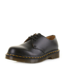 Womens Dr Martens 1461 Black Smooth Classic Leather Lace Up Shoes Size