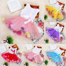 Lonely Toddler Baby Kids Girls Princess Party Tutu Lace Bow Flower Dresses G18