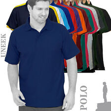 Uneek UC101 Mens Classic Short Sleeve PolyCotton Polo Shirt (15 Cols)