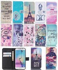 Cartoon PU Leather Flip Wallet Card Holder Stand Case Cover For Mobile Phones