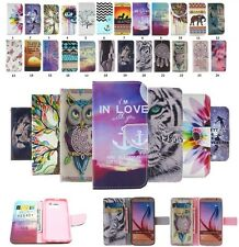 Deluxe Painted PU Leather Wallet Flip Card Holder Case Fashion Cover For Samsung