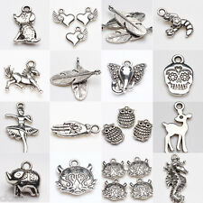 New Retro DIY Charms Tibetan Silver Charms Beads Findings Jewellery Mix Craft