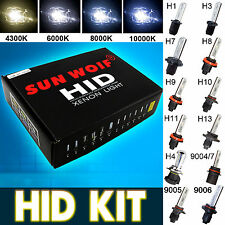 9006 9005 HID XENON KIT Headlight Conversion Slim Ballast H3 H4 H7 6000K 8000K