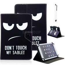 """Pen & Universal Don't Touch My Pad Leather Case Cover For 7""""~ 7.9"""" Tablet PC MID"""