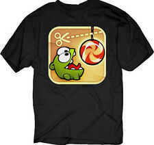 CUT THE ROPE Eating Candy: iphone Icon T-Shirt S-3XL