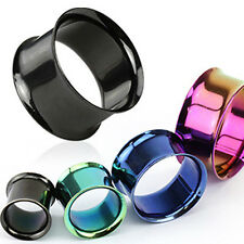 Flesh Tunnel Titanium Ear Piercing Plug Double Flared Hollow Stainless Steel