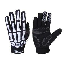 BLK Bicycle Bike Cycle Sports Skull Skeleton Full Finger Warm Gloves Size M/L/XL