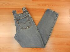 Levi's 550 Retro Relaxed Tapered Size 10 Mis Womens Denim Blue Jeans Cotton USA