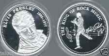 """ELVIS PRESLEY""""THE KING OF ROCK N' ROLL""""  SILVER COLLECTOR COIN   2"""
