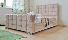 Florence Upholstered Caramel Chenille Bed Frame All Colours & Sizes Made In UK