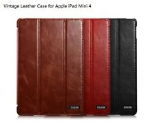 Real Genuine Leather Smart Wake/Sleep Stand Case Cover for iPad Air 2 II iPad 6