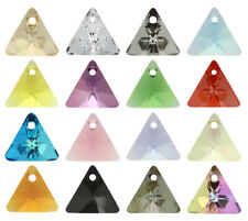Genuine SWAROVSKI 6628 XILION Triangle Crystals Pendants * Many Sizes & Colors
