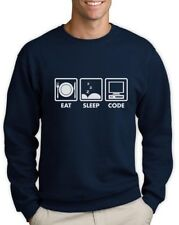 Eat Sleep Code - Funny Programmer Coder Sweatshirt Coding Geek Gift Idea