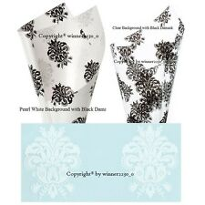 Select 10 Sheets Cellophane Cello Wrapping Clear White Background v Black DAMASK