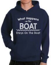 What Happens On The Boat Stays On The Boat - Funny Hoodie Sailing Party