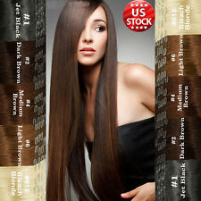 100% Real True AAAAAA Clip In Remy Human Hair Extensions Full Head US Seller A35