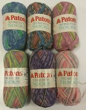 Discontinued Patons Stretch Socks Yarn Free Pattern  & Shipping - 14 Colors