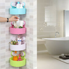 Sucker Bathroom Corner Shower Caddy Shelf Storage Rack Organizer Holder Hanger