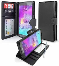 Magnetic Flip Folio Cover Stand Wallet Leather Case For Samsung Galaxy Note 4