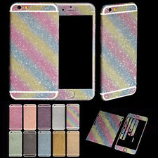 Bling Full Body Back & Front Decal Skin Sticker Wrap Case Cover For Cell Phones