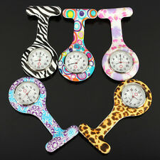 Colorful Silicone Stainless Round Dial Quartz Fob Quartz Pocket Nurse Watch