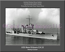 USS New Orleans CA 32 Personalized Canvas Ship Photo Print Navy Veteran Gift