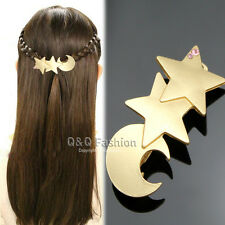 Goddess Shooting Star Moon French Updo Hair Pin Clip Dress Snap Barrette Top