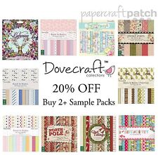 "Dovecraft 8""x8"" Papers - 12 Sheet Sample Packs - Your Choice"