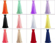 New Stock Chiffon Prom Formal Dress Ball Party Cocktail Evening Bridesmaid Gowns