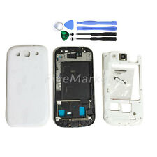 Full Housing Case Back Battery Cover For Samsung Galaxy S3 i9300 White + Tool