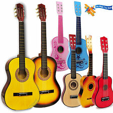 Childrens Childs Kids Wooden Guitar Acoustic Classic Musical Instrument Toy