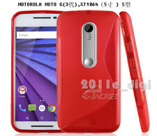 Soft S-Line TPU Hybrid Gel Case Cover for Motorola Moto G3 3rd Gen 2015