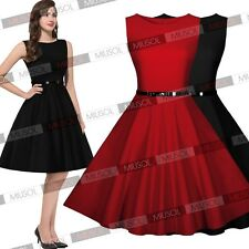 Womens Pinup Cocktail Evening Party Short Prom Dresses Skater Club Dancer Skirts