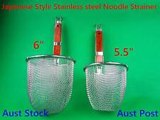 Stainless Steel Japanese Style Noodle Strainer/Skimmer with Wooden Handle (C282)