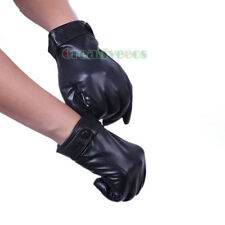 Fashion Men's Sheepskin Genuine Leather Flannel Lining Thin Full Finger Gloves