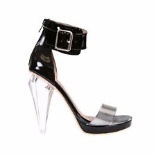 Jeffrey Campbell Ashsky Black Pewter Heels