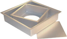 """Fat Daddio's Anodized Aluminum Square Cheesecake Pan Removable Bottom, 2"""" Deep"""