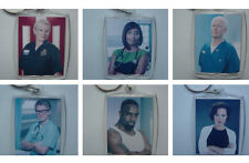 Casualty characters, Photo Keyring / bag tag, clear plastic,