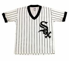 Chicago White Sox Youth Pinstripe v-neck Jersey T-shirt-1958