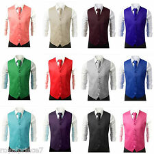 Brand Q Formal Casual Tuxedo Suit Dress Vest Waistcoat & Neck tie Wedding Prom