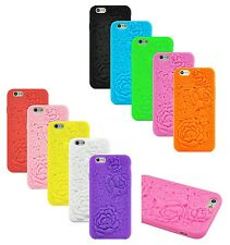3D Sculpture rose flower silicone soft case iPhone 6s 6 iPhone 6s Plus iPhone 5C