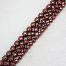 """8-12mm dark Gold shell Bead mother Pearl Round DIY Loose Beads 15"""""""